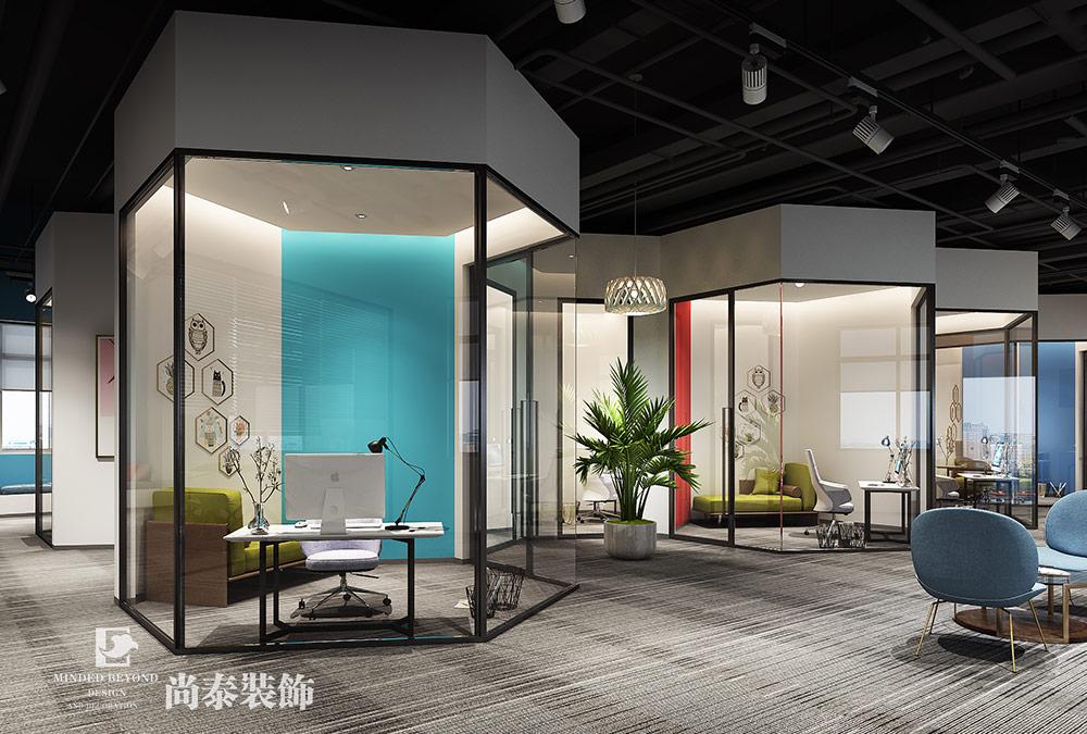 1600平米办公室设计效果图-品效合一