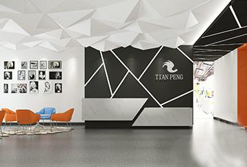 2800平米办公空间设计效果图-天鹏艺人培训