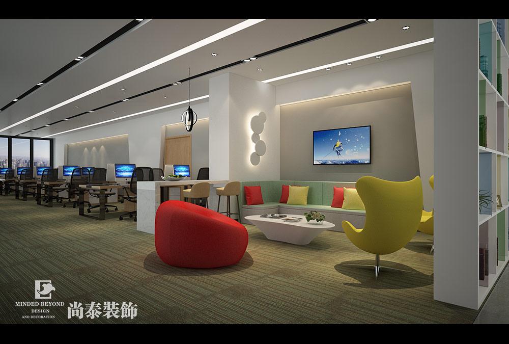 500平米办公室江苏11选5走势图下载效果图-运发集团