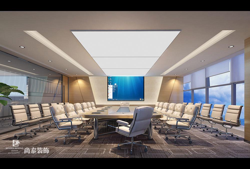 1500平米办公室设计效果图-美辰科技