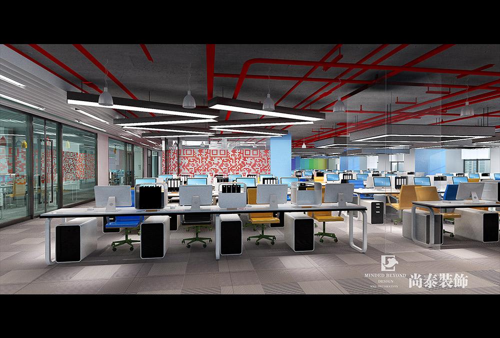3000平米办公室江苏11选5走势图下载效果图-赛意科技