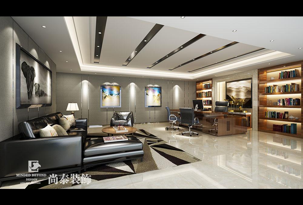 500平米办公室江苏11选5走势图下载效果图-兴派建筑