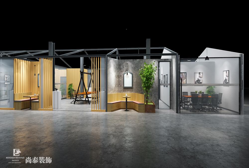 大型办公室改造设计效果图-微谷众创