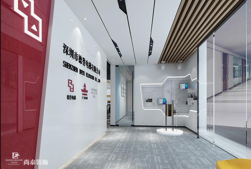 100平办公室江苏11选5走势图下载效果图-德誉电梯