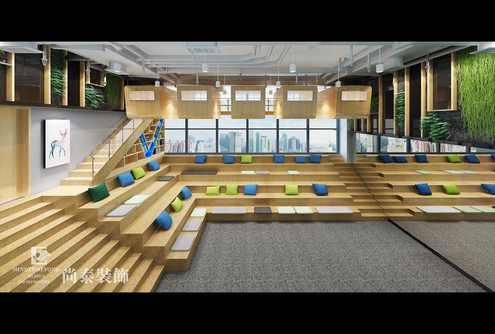 工业风loft办公室江苏11选5走势图下载效果图-云歌智能
