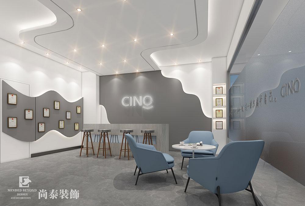 400平米办公室展厅江苏11选5走势图下载效果图-西啡科技