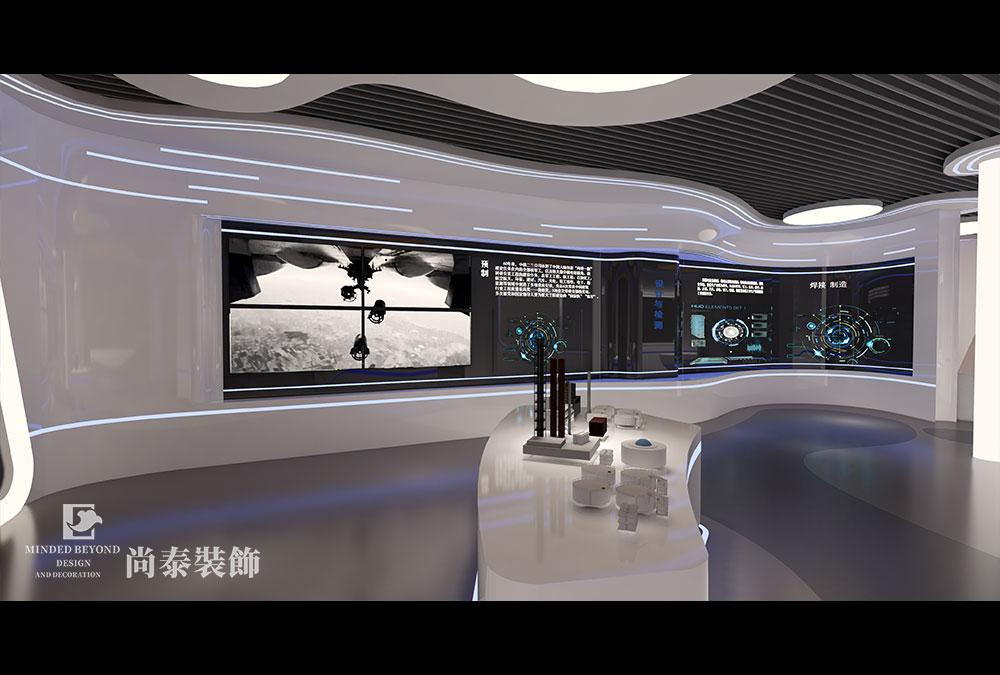 300平米展厅设计江苏11选5走势图下载效果图-中核