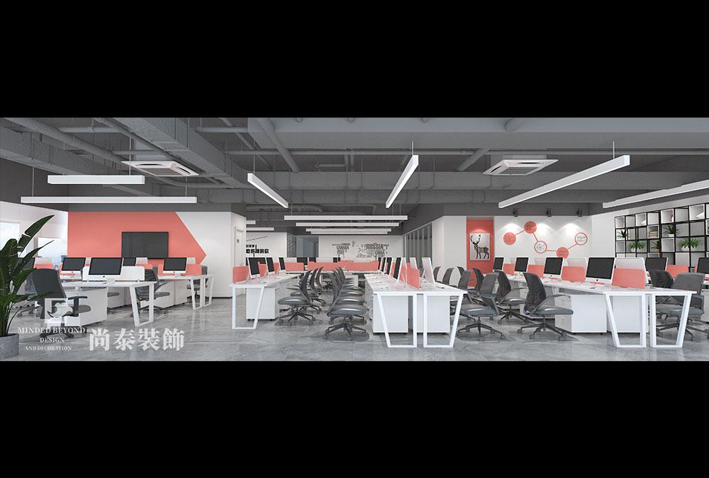800平米办公室江苏11选5走势图下载效果图-易创控股