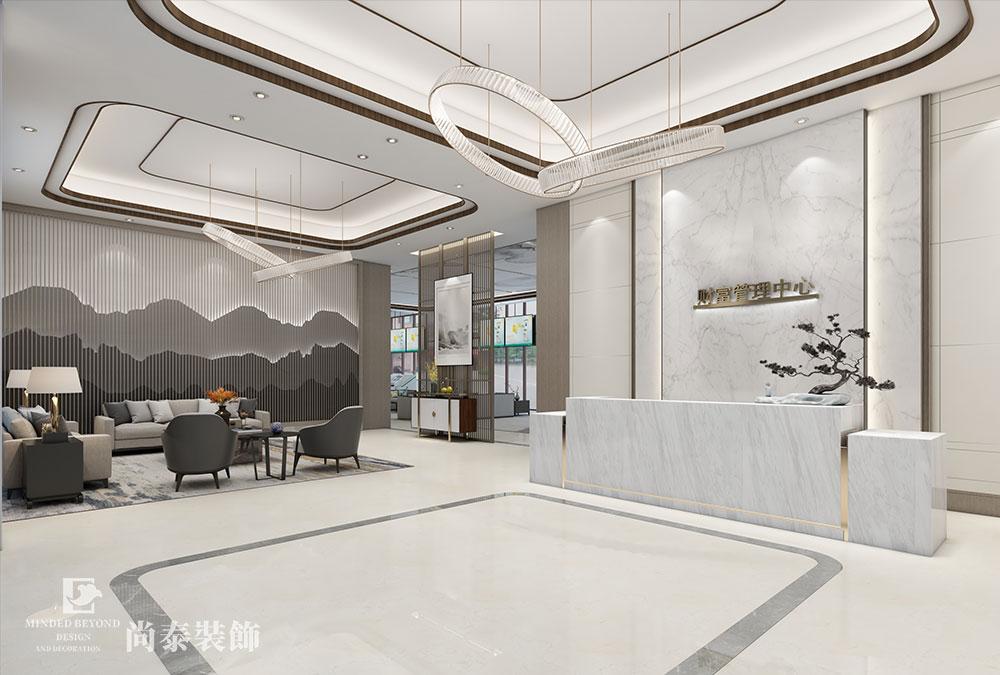 1020㎡银行财富管理中心办公/接待大厅江苏11选5走势图下载设计