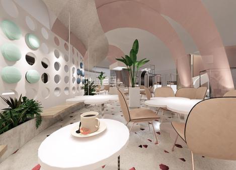3000平米大型蛋糕店设计   盎司蛋糕店