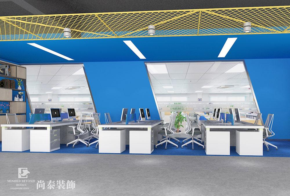 500平米互联科技公司办公室设计 | 百瑞互联