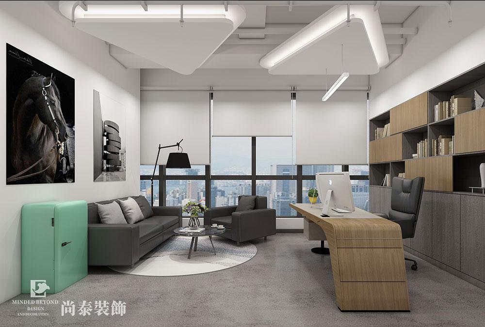 200平米办公室江苏11选5走势图下载设计效果图-宝袋贸易
