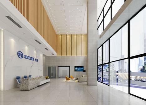 深圳江苏11选5走势图下载公司打造1900平米高科技公司办公展厅江苏11选5走势图下载设计