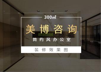 300平米办公室江苏11选5走势图下载效果图-美博咨询