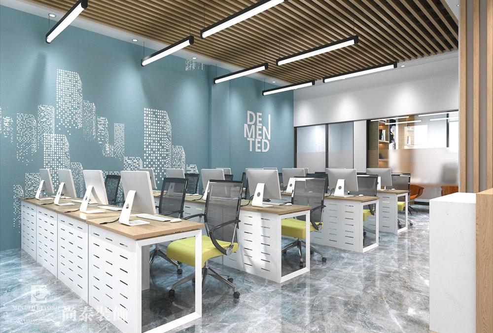 110㎡地产办公室设计效果图 | 花都地产