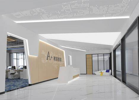 600㎡科技公司办公室江苏11选5走势图下载设计效果图 | 欧菲智联